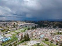 Latacunga взгляда Areial стоковые изображения rf