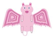 latająca świnia Zdjęcia Stock