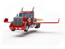 Latająca ciężarówka ilustracji