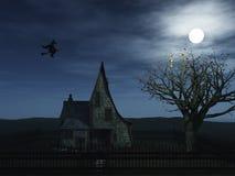 latająca czarownica Zdjęcia Royalty Free