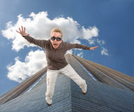 latająca dziewczyna Zdjęcie Stock