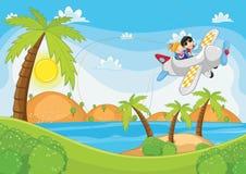 latająca ilustracja żartuje płaskiego wektor Fotografia Royalty Free