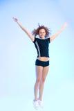 latająca królowa fizycznej fitness Zdjęcia Royalty Free