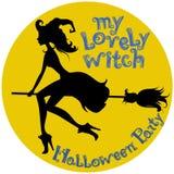 Latająca piękna czarownica Zdjęcia Royalty Free