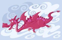 latająca smok czerwień Zdjęcie Royalty Free
