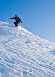 latająca wysokości śniegu snowboarder prędkość Zdjęcia Stock