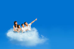 Latające chmury obraz stock