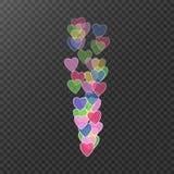latające dni serc s ilustracyjny walentynki Kolorowi serca w ruchu Lubię, ikona Poziom popularność wideo transmisje użytkownicy Obrazy Stock
