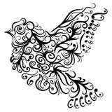Latającego ptaka tatuażu nakreślenia Zentangle przełaz Zdjęcia Royalty Free