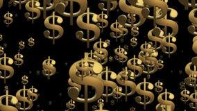 Latającego usa dolarowi znaki ilustracja wektor