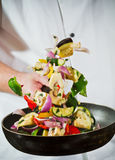 latający świezi warzywa Fotografia Stock