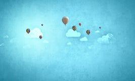 Latający aerostaty Fotografia Royalty Free