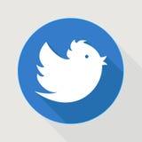 Latający błękitny świergotu ptak Fotografia Royalty Free