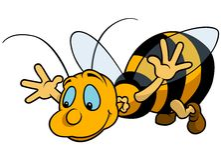 Latający bumblebee Obrazy Royalty Free