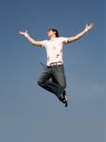 latający człowiek Zdjęcia Stock