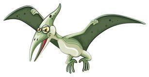 Latający dinosaur na bielu Obrazy Royalty Free