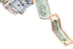 Latający dolar amerykański Zdjęcia Royalty Free