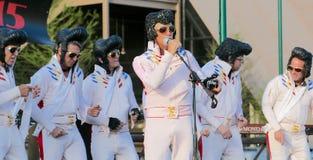 Latający Elvis Presley Żywy Na scenie fotografia stock
