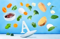 Latający foods bogaci w witaminie a fotografia royalty free