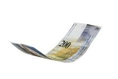 latający franka notatki szwajcar Zdjęcie Stock