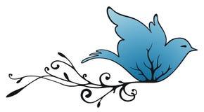 latający gołąb ilustracji