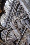 Latający gurty, Mediolańska katedra, Włochy Duomo Obraz Stock