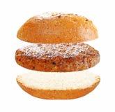 Latający Hamburger Zdjęcie Stock