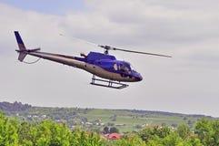 latający helikopter Zdjęcia Stock