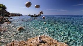 Latający kamień Zdjęcie Royalty Free
