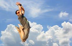 latający mężczyzna zdjęcia royalty free