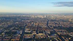 Latający nad Berlin, widok od samolotu zbiory wideo