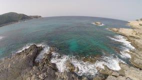 Latający nad morzem śródziemnomorskim - Powietrzny lot, Mallorca zbiory wideo