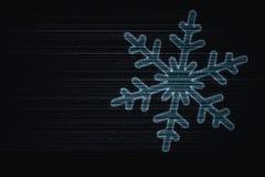 latający płatek śniegu ilustracja wektor