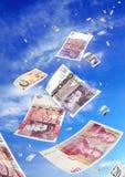 Latający pieniądze Obrazy Stock
