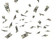 latający pieniądze Fotografia Stock
