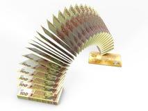 Latający pieniądze 3D gotówki z powrotem pojęcie Obraz Royalty Free