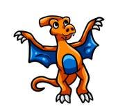 Latający Pomarańczowy dinosaur ilustracji