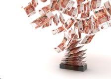 Latający ruble ilustracji