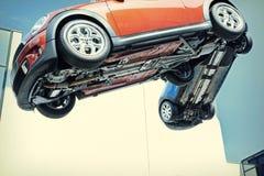 Latający samochody w powietrzu obraz royalty free