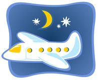 latający samolot Obrazy Royalty Free