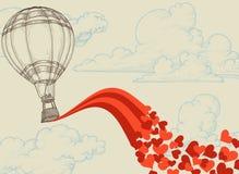latający serca Fotografia Stock