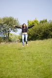 latający szczęśliwy zdjęcia royalty free