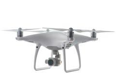 Latający trutnia quadcopter odizolowywający na bielu z ścinek ścieżką Obraz Royalty Free