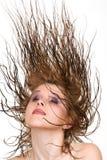 latający włosy Zdjęcia Royalty Free