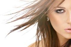 latający włosy Obraz Stock