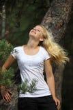 latający włosy Obrazy Royalty Free