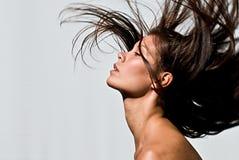 latający włosy Obrazy Stock