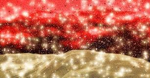 Latający złocisty pył Zdjęcie Stock