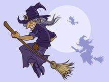 latająca czarownica Obrazy Royalty Free