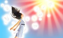 latająca dziewczyna Obrazy Stock